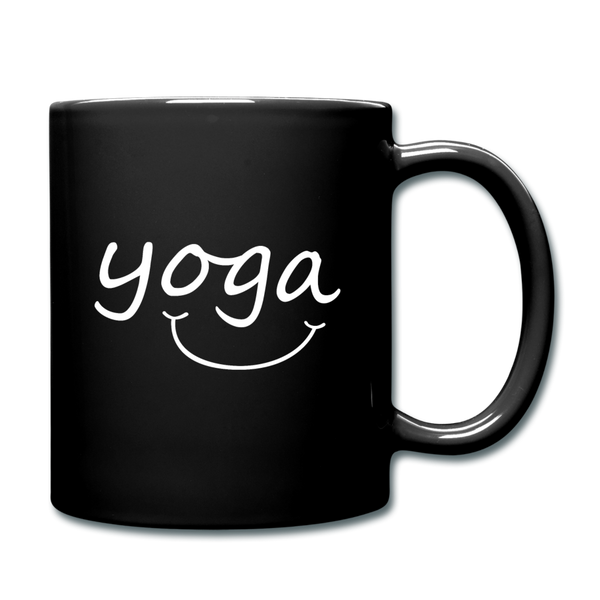 Yoga with a Smile Mug - black