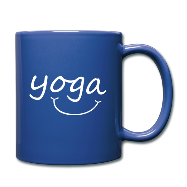 Yoga with a Smile Mug - royal blue