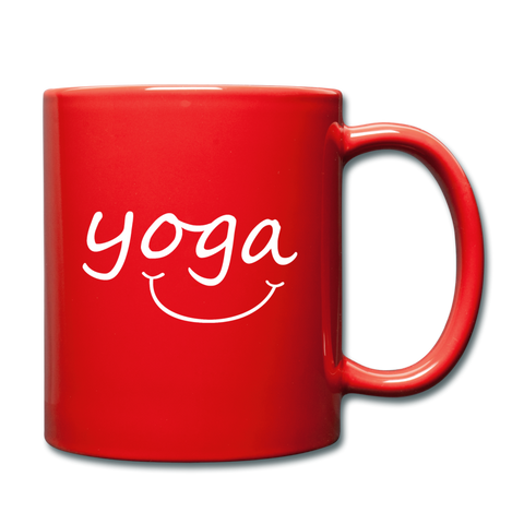 Yoga with a Smile Mug - red