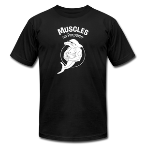 Muscles on Porpoise® Men's Jersey T-Shirt - black