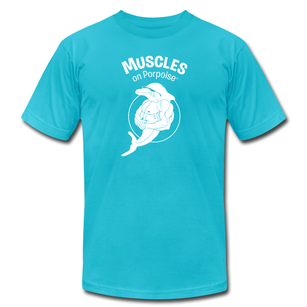 Muscles on Porpoise® Men's Jersey T-Shirt - turquoise