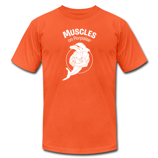 Muscles on Porpoise® Men's Jersey T-Shirt - orange
