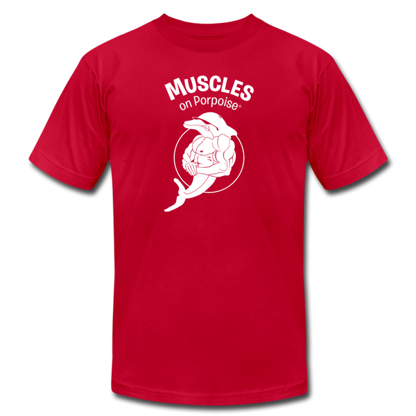Muscles on Porpoise® Men's Jersey T-Shirt - red