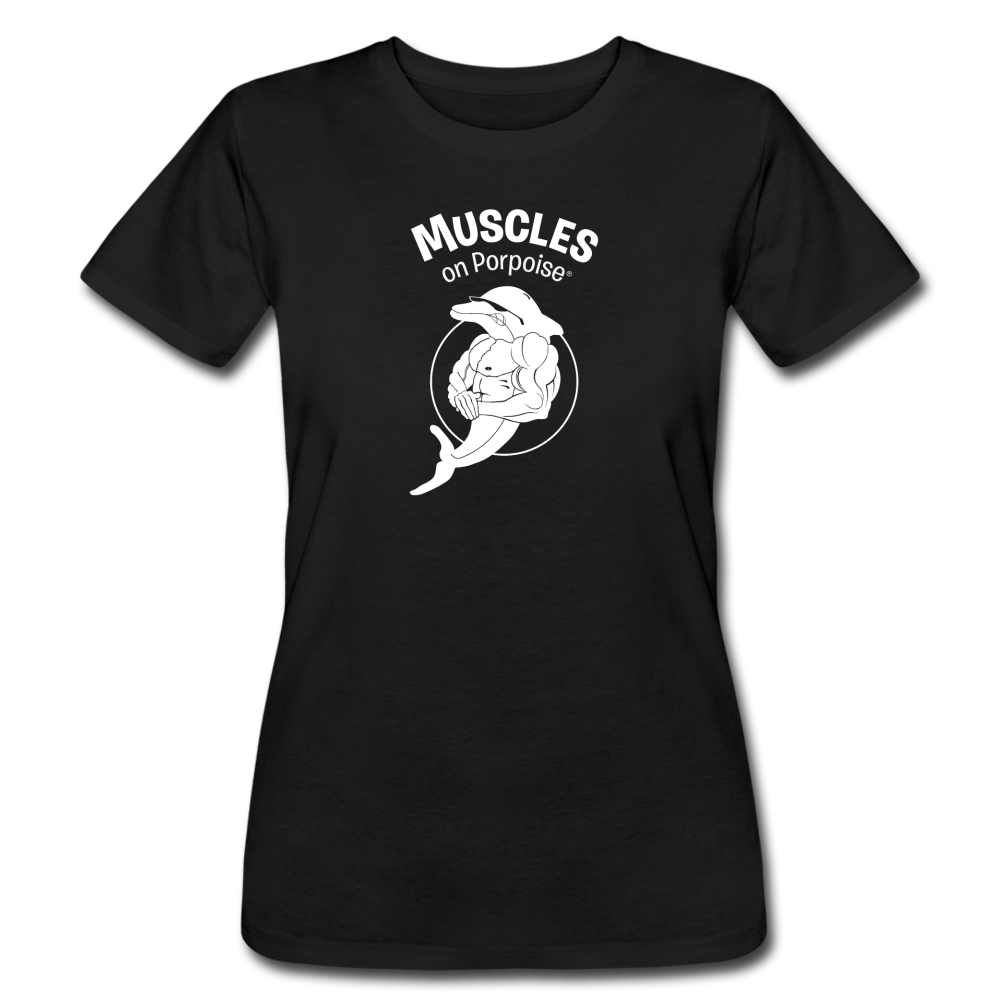 Muscles on Porpoise® Women's Jersey T-Shirt - black