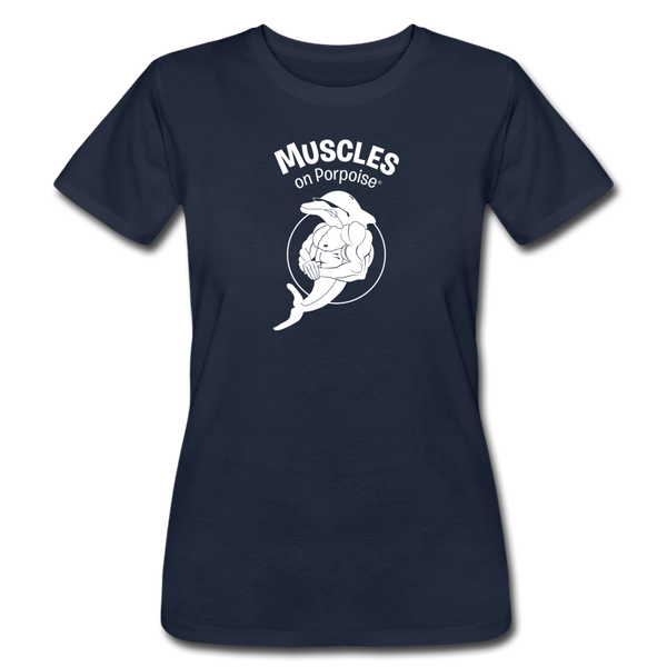 Muscles on Porpoise® Women's Jersey T-Shirt - navy