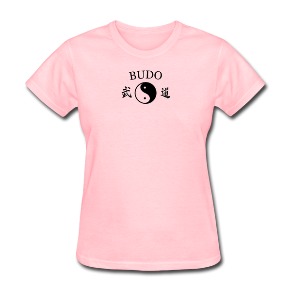 Budo Yin and Yang Kanji Women's T-Shirt - pink