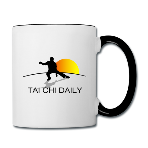 Tai Chi Daily Mug - white/black
