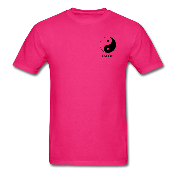 Yin and Yang Tai Chi Men's T-Shirt - fuchsia