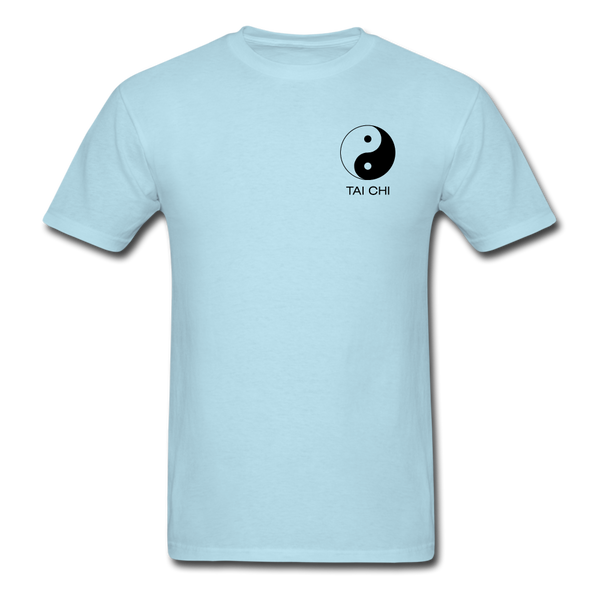 Yin and Yang Tai Chi Men's T-Shirt - powder blue
