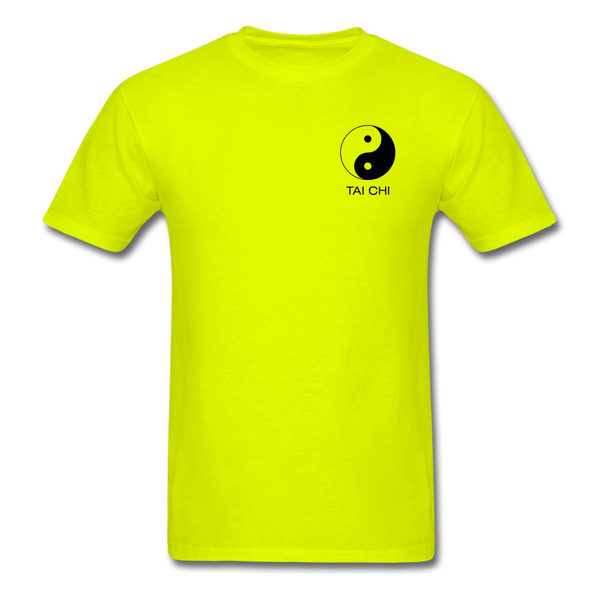 Yin and Yang Tai Chi Men's T-Shirt - safety green
