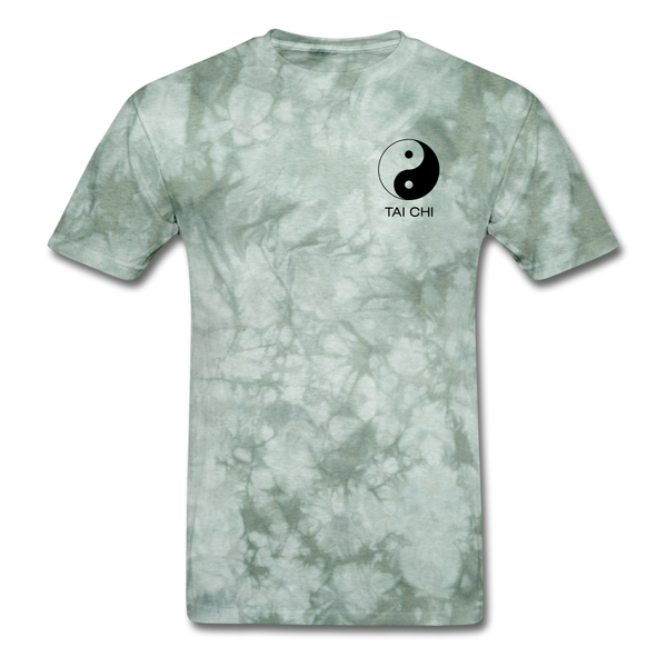 Yin and Yang Tai Chi Men's T-Shirt - military green tie dye