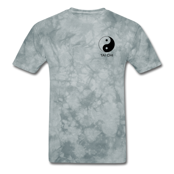 Yin and Yang Tai Chi Men's T-Shirt - grey tie dye