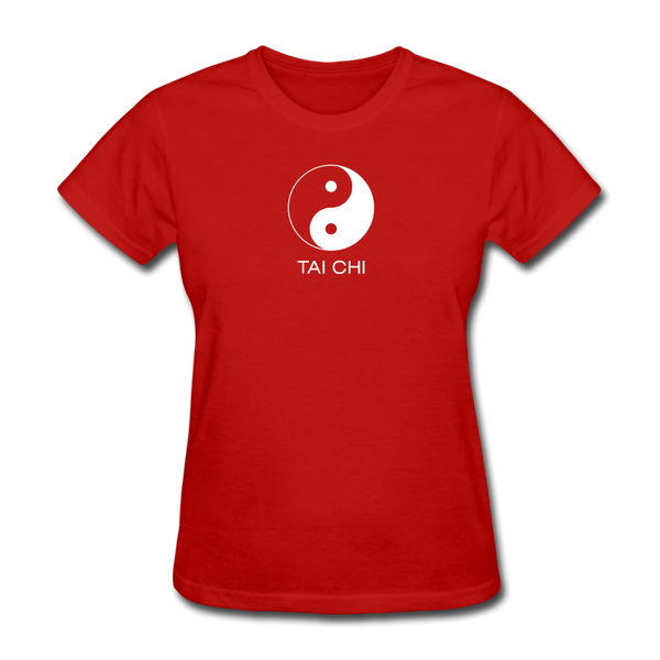Yin and Yang Tai Chi Women's T-Shirt - red