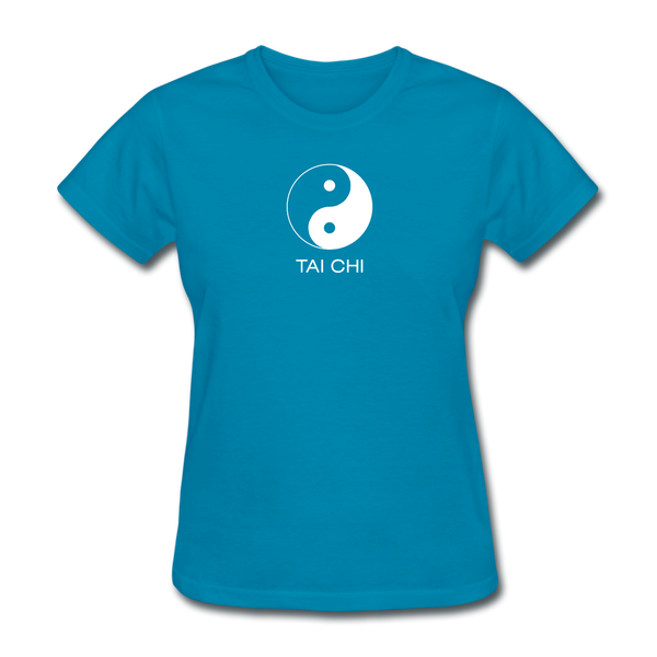 Yin and Yang Tai Chi Women's T-Shirt - turquoise
