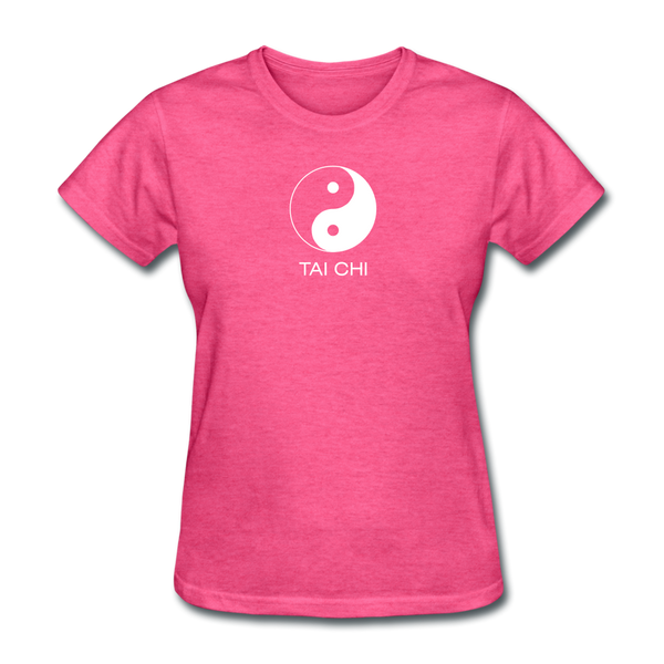 Yin and Yang Tai Chi Women's T-Shirt - heather pink