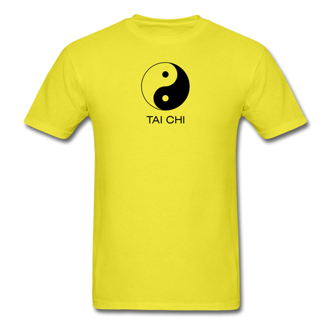 Yin and Yang Tai Chi Men's T-Shirt - yellow
