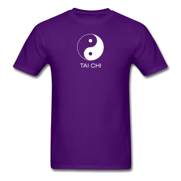 Yin and Yang Tai Chi Men's T-Shirt - purple