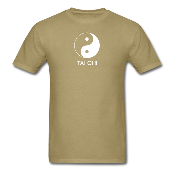 Yin and Yang Tai Chi Men's T-Shirt - khaki
