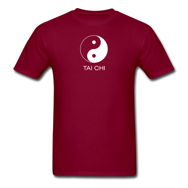 Yin and Yang Tai Chi Men's T-Shirt - burgundy
