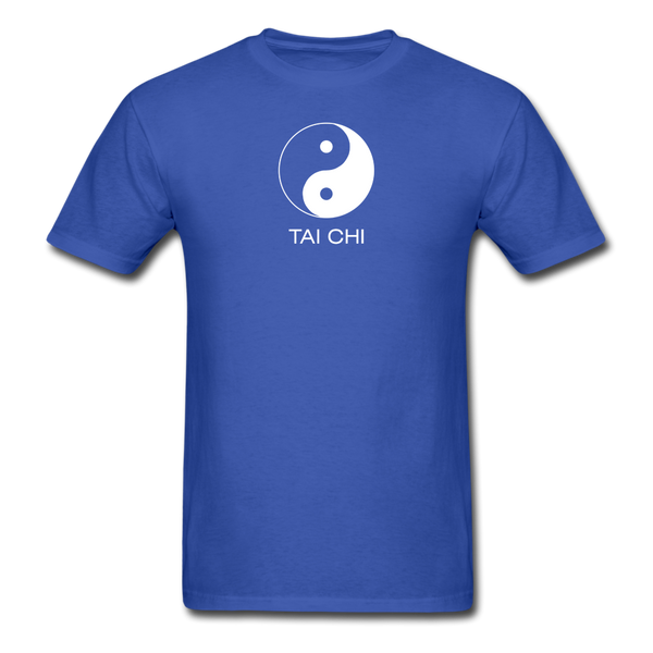 Yin and Yang Tai Chi Men's T-Shirt - royal blue