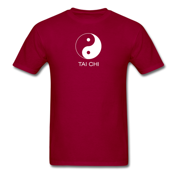 Yin and Yang Tai Chi Men's T-Shirt - dark red