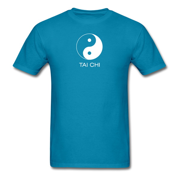 Yin and Yang Tai Chi Men's T-Shirt - turquoise