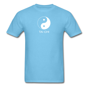 Yin and Yang Tai Chi Men's T-Shirt - aquatic blue