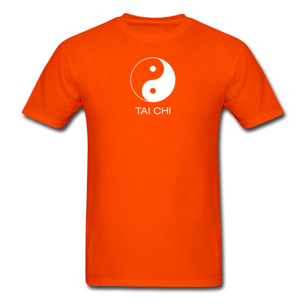 Yin and Yang Tai Chi Men's T-Shirt - orange