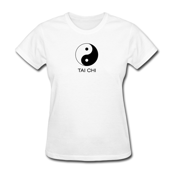 Yin and Yang Tai Chi Women's T-Shirt - white