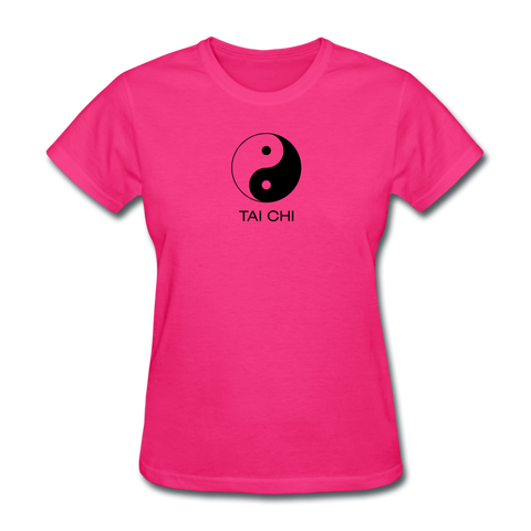 Yin and Yang Tai Chi Women's T-Shirt - fuchsia