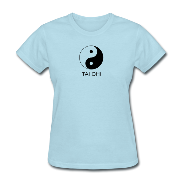 Yin and Yang Tai Chi Women's T-Shirt - powder blue