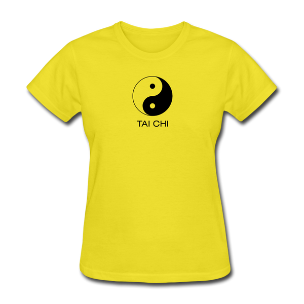 Yin and Yang Tai Chi Women's T-Shirt - yellow