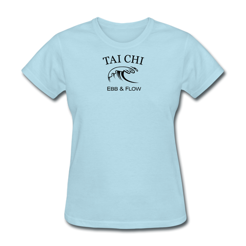 Tai Chi Ebb & Flow Women's T-Shirt - powder blue