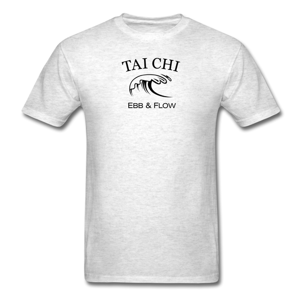 Tai Chi Ebb & Flow Men's T-Shirt - light heather gray