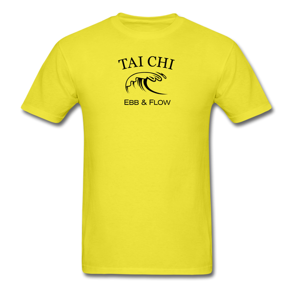 Tai Chi Ebb & Flow Men's T-Shirt - yellow