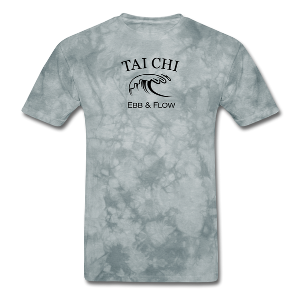 Tai Chi Ebb & Flow Men's T-Shirt - grey tie dye