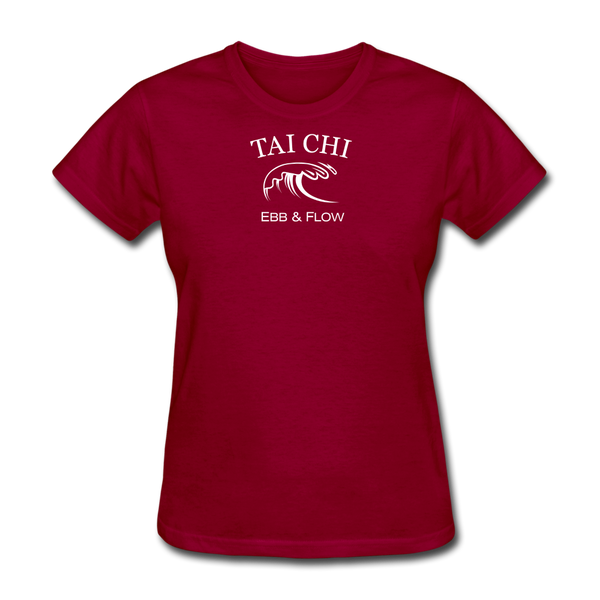 Tai Chi Ebb & Flow Women's T-Shirt - dark red