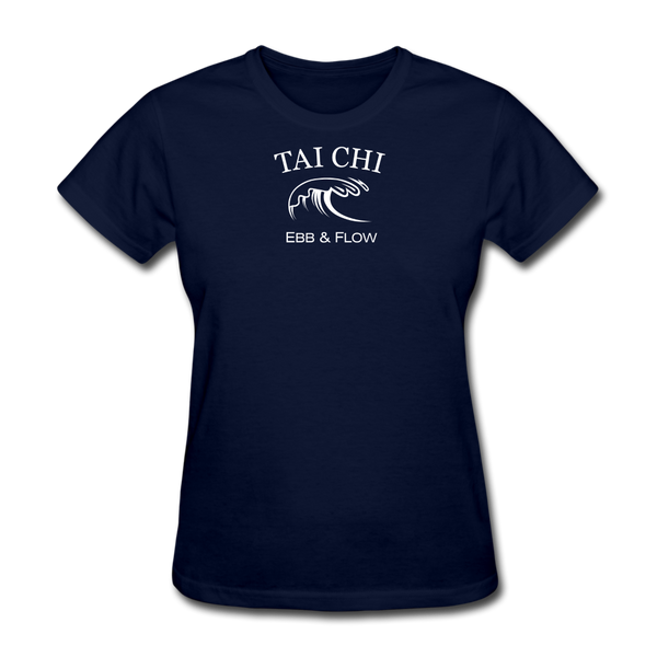 Tai Chi Ebb & Flow Women's T-Shirt - navy