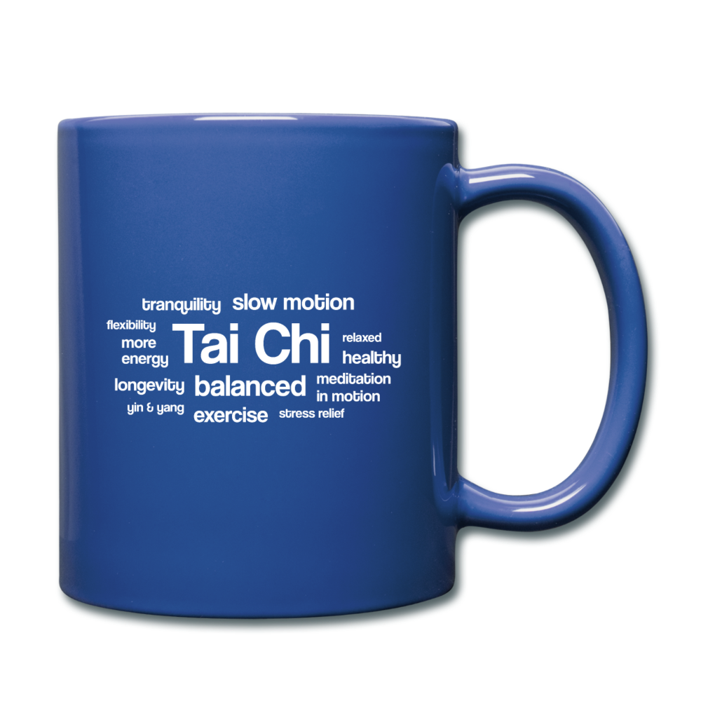 Tai Chi Health Benefits Mug - royal blue