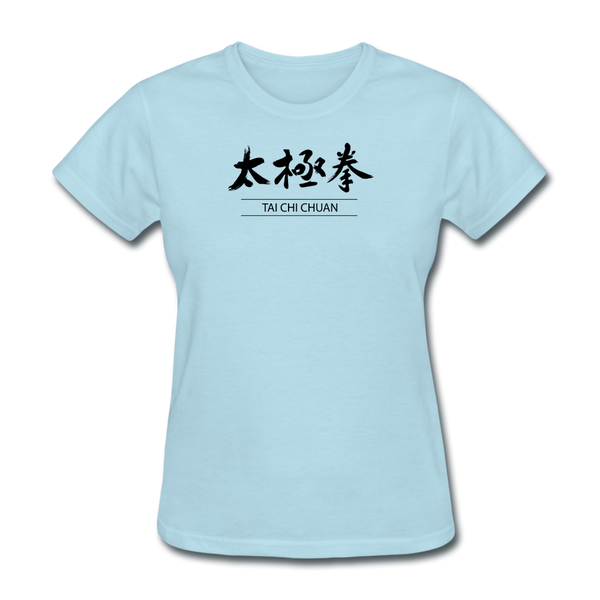 Tai Chi Chuan Kanji Women's T-Shirt - powder blue