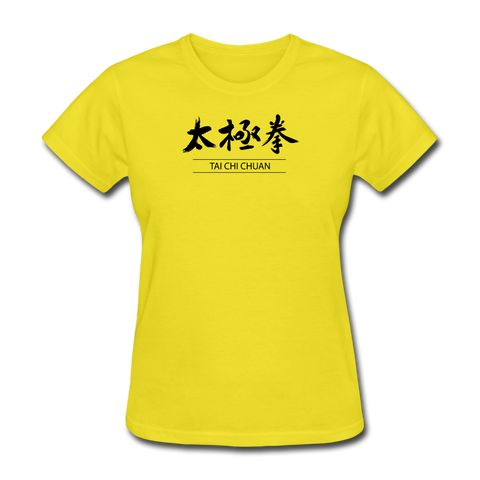 Tai Chi Chuan Kanji Women's T-Shirt - yellow