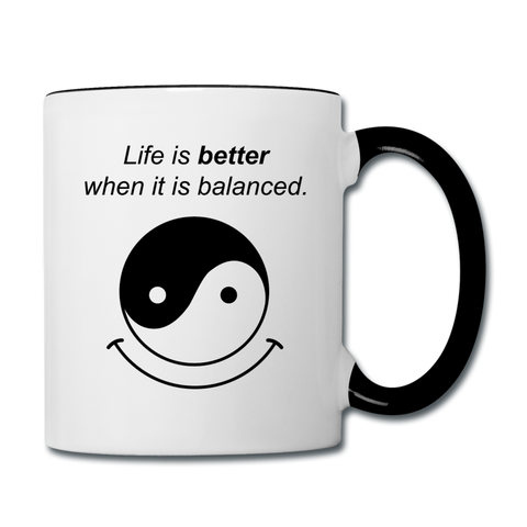 Yin and Yang Coffee Mug - white/black