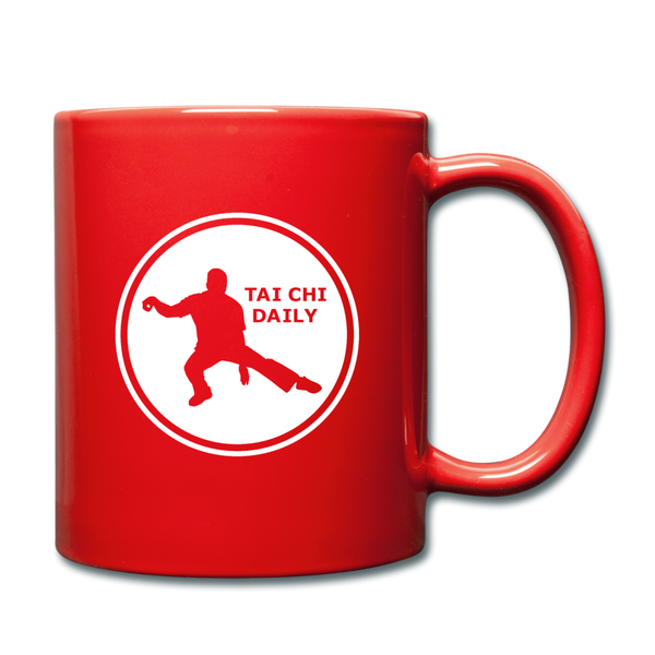 Tai Chi Daily Coffee Mug - red