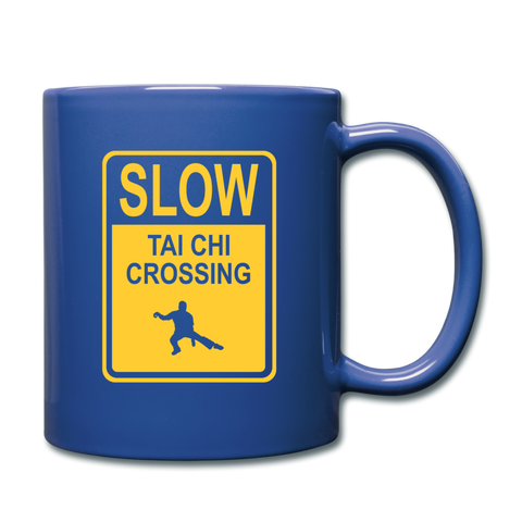 Tai Chi Crossing Coffee Mug - royal blue