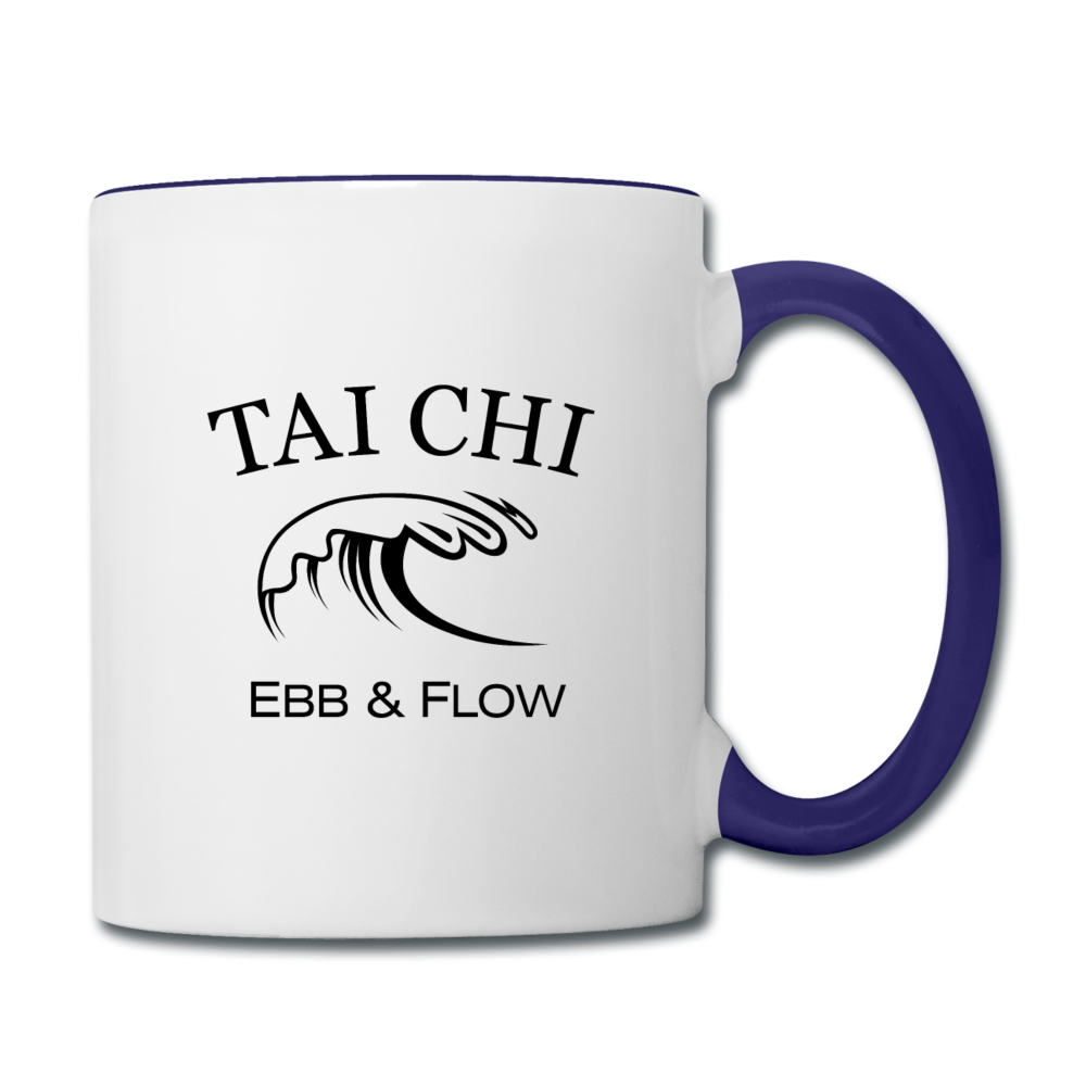 Tai Chi Coffee Mug - white/cobalt blue