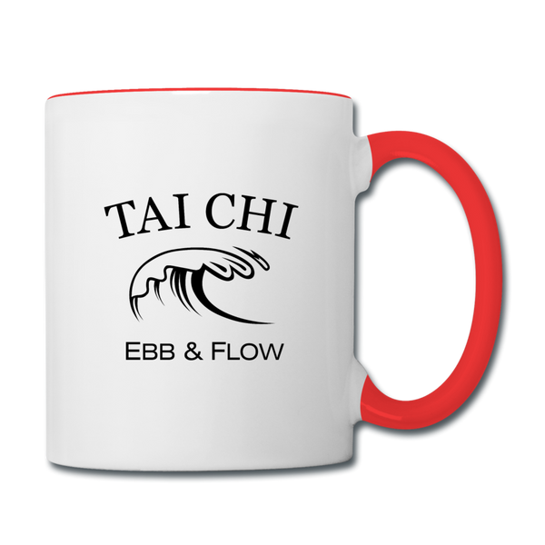 Tai Chi Coffee Mug - white/red