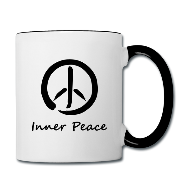 Inner Peace Coffee Mug - white/black
