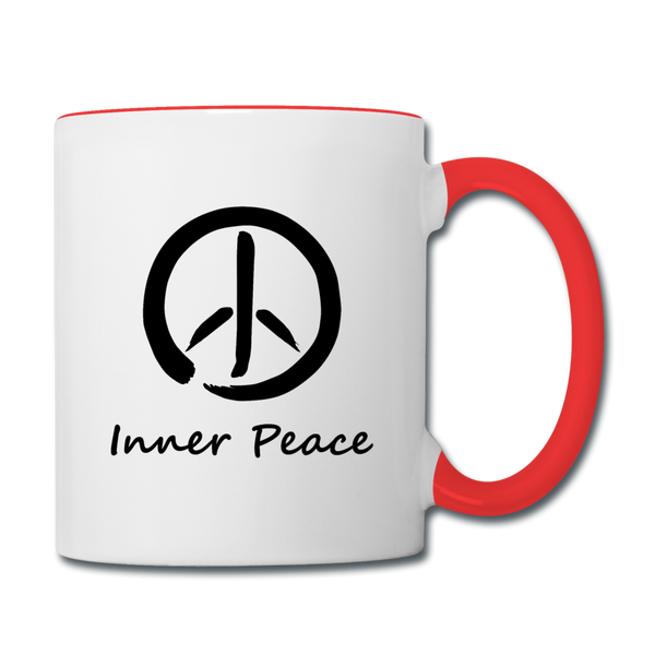 Inner Peace Coffee Mug - white/red