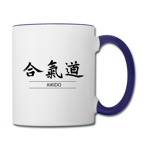 Aikido Coffee Mug - white/cobalt blue
