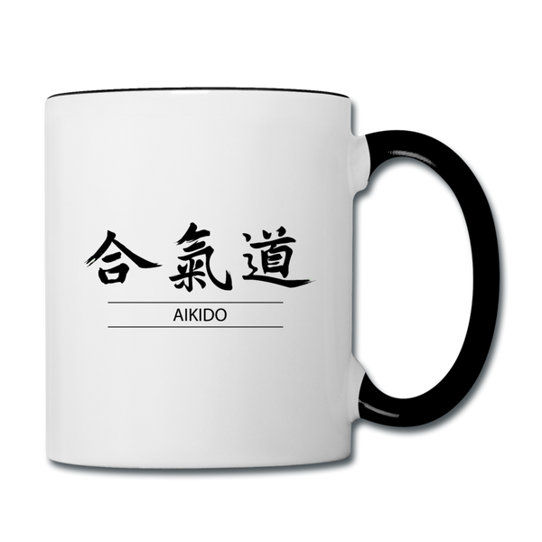 Aikido Coffee Mug - white/black